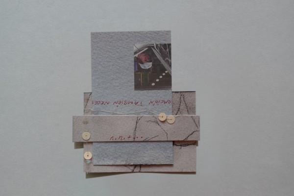 CGB Lentejuelas #18 2012 8 x 10 cm watercolor, ink-jet print on paper